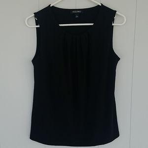 roz & ALI Black Sleeveless Shell Top, Size Small